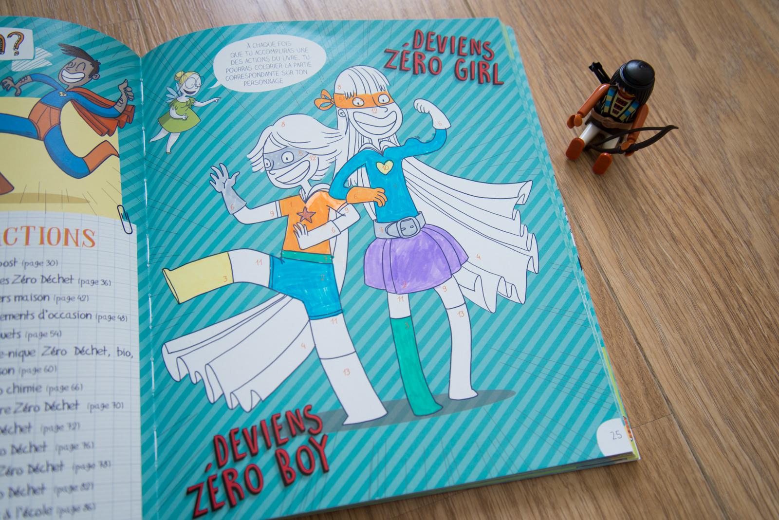 Zéro boy et Zéro girl à colorier